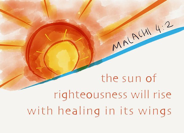 The Sun of Righteousness With Healing in His Wings